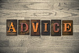 Advice Wooden Letterpress Theme