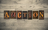 Auction Wooden Letterpress Theme
