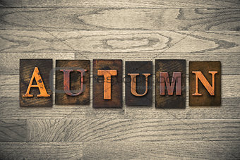 Autumn Wooden Letterpress Theme