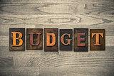 Budget Wooden Letterpress Theme
