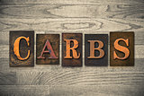 Carbs Wooden Letterpress Theme