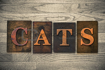 Cats Wooden Letterpress Theme