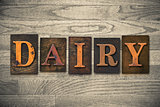 Dairy Wooden Letterpress Theme
