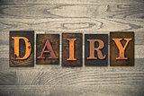 Dairy Wooden Letterpress Theme