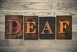 Deaf Wooden Letterpress Theme