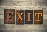 Exit Wooden Letterpress Theme