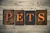 Pets Wooden Letterpress Theme