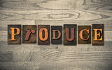 Produce Wooden Letterpress Theme