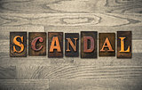 Scandal Wooden Letterpress Theme