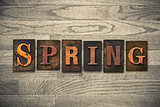 Spring Wooden Letterpress Theme