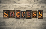 Success Wooden Letterpress Theme