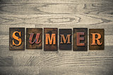 Summer Wooden Letterpress Theme