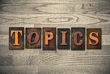 Topics Wooden Letterpress Theme