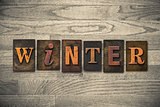 Winter Wooden Letterpress Theme