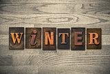 Winter Wooden Letterpress Theme