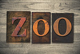 Zoo Wooden Letterpress Theme