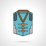 Life jacket flat design vector icon
