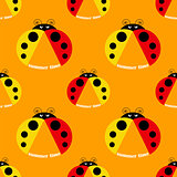 seamless pattern with ladybug