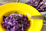 Plate With Red Cabbage Risotto