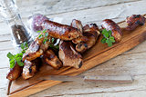 Roasted Ribs And Sausages