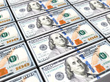 one hunred dollars banknote background