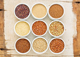nine healthy, gluten free grains