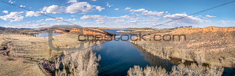 aerial panorama of Horsetooth Reservoir