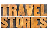 travel stories typography