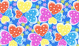 Seamless candy color hearts pattern, Valentines day concept