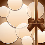 Cover of the present box abstract brown background.