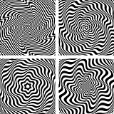 Illusion of wavy rotation and torsion movement.
