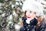 Portrait in snowy weather