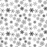 Black and White Vector Flower Pattern