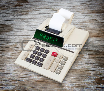 Old calculator - profit