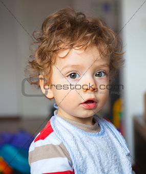 1 year old baby boy portrait