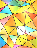 Colorful Abstract Geometric Triangles Background Illustration
