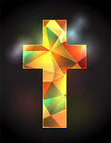 Stained Glass Christian Cross Illustration