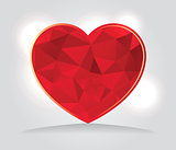 Abstract Geometric Triangles Heart Illustration