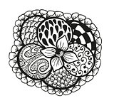 Doodling hand drawn amazing flower and patterns