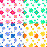 Flat floral seamless pattern