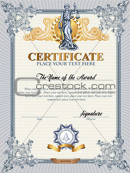 Certificate template with Femida.