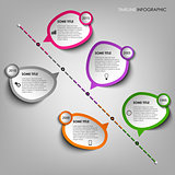Time line info graphic with design stickers template