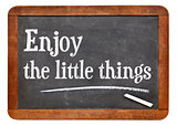 Enjoy little things on blackboard