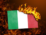 Flag burning - Italy