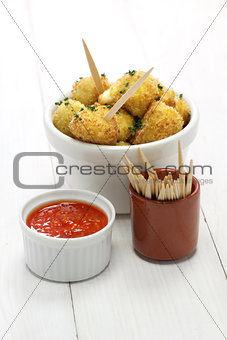 cauliflower bites, vegetarian food