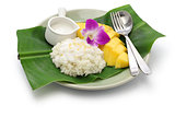 sticky rice with mango, thai sweet