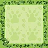 Footprints in green frame 2