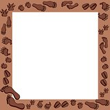 Fotoprints in brown frame