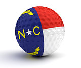 North Carolina Golf Ball