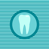 Teeth color flat icon